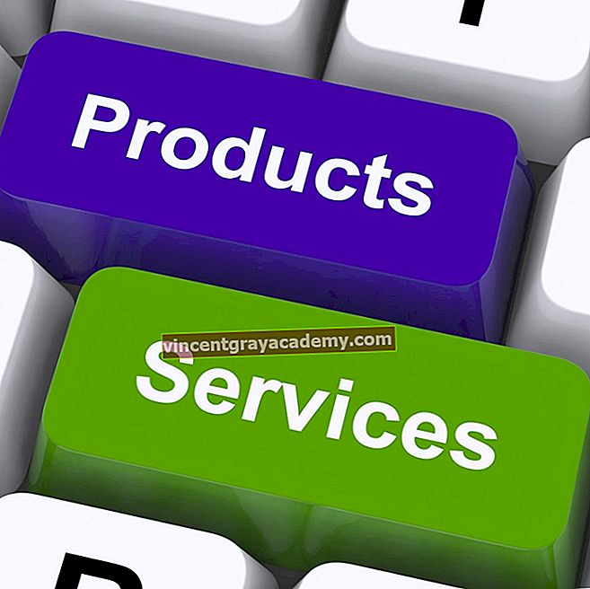 Kaj so izdelki in storitve?