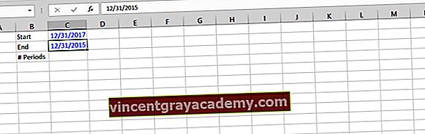 Dynamiske datoer, sum, gjennomsnitt og scenarier