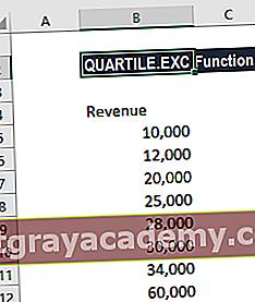 Hva er QUARTILE.EXC-funksjonen?