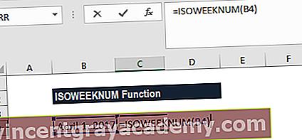 ISOWEEKNUM 함수는 무엇입니까?