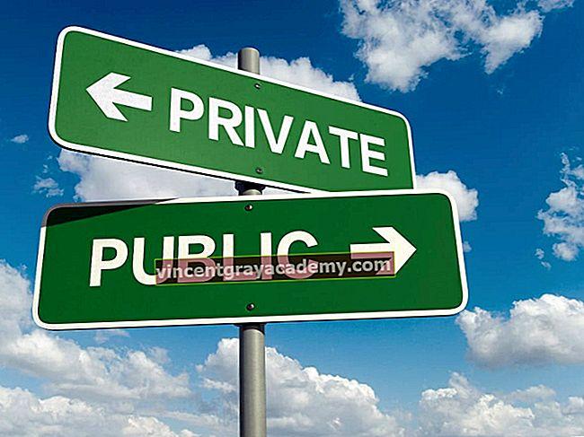 Hva er et privat vs offentlig selskap?