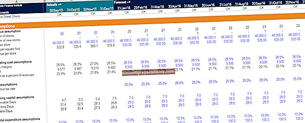Månedlig modell for kontantstrømsprognose